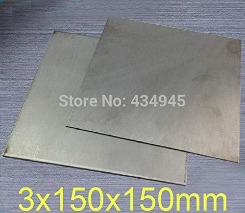 Ochoos 3mm Thickness 150x150mm Titanium Ti Plate, Titanium Sheet and Plate, GR2 Dynamic Plates