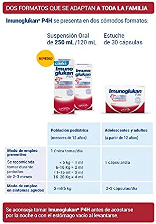 Imunoglukan jarabe 120ml - Complemento alimenticio, con vitamina C que contribuye al correcto funcionamiento del sistema inmunitario,1ml/5kg de peso
