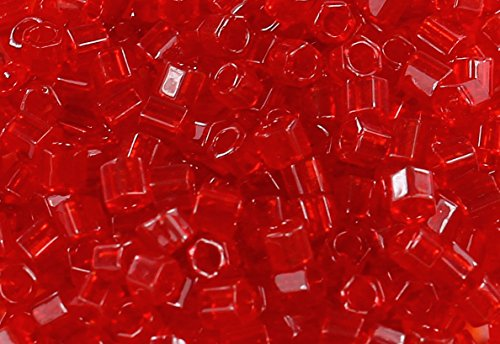 8/0 Hex TOHO Japan Glass Seed Beads #5C-Transparent Ruby 15g