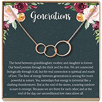 Amazon.com: Dear Ava Generations Gift Necklace for