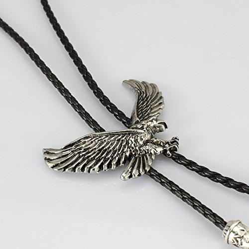 Alloy western cowboy Eagle bolo tie American (Silver) by HUABOLA CALYN (Image #3)