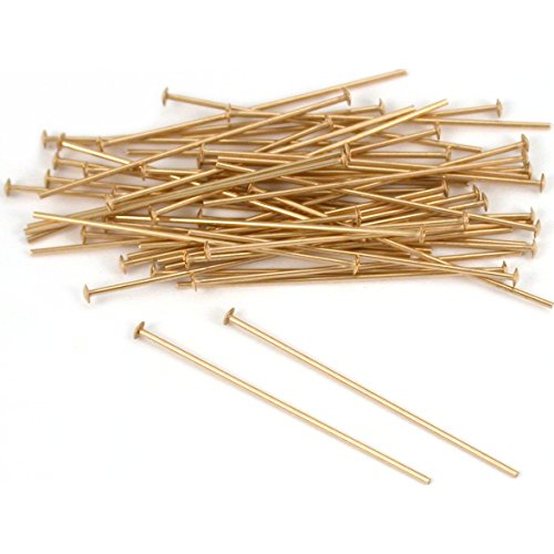50 14K Gold Filled Headpins Head Pins 24 Gauge 1