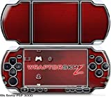 Sony PSP 3000 Decal Style Skin - Carbon Fiber Red and Chrome (OEM Packaging)