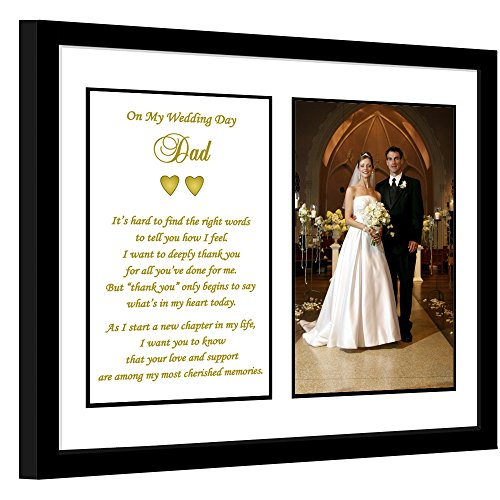 Dad Thank You Wedding Gift, Thank You Poem Frame from Son or Daughter, Add Photo