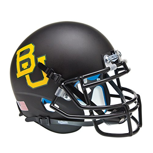 NCAA Baylor Bears Matte Black Replica Helmet, One Size by Schutt