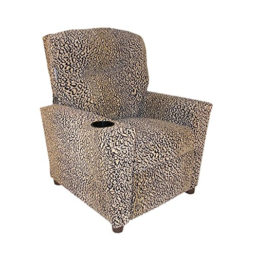 Dozydotes Child Theater Recliner Chair with Cup Holder - All Cheetah ()