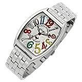 [Michel Jordan] michel Jurdain watch diamond 5P containing tonneau-shaped metal belt men's watch White x multi-color SG-1000A-5B Men's