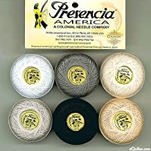 Presencia Finca Perle Cotton Thread Sampler Pack, Size 5 / 10 gram - NEUTRAL (for sashiko, embroidery, and quilting)