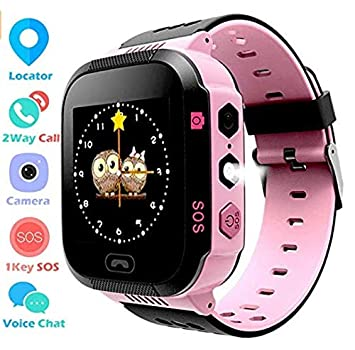 Ankamal Elec Niños Smart Watch Phone Reloj Inteligente GPS Tracker Smartwatch para niños de 3-