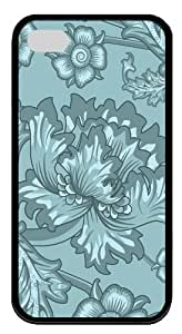 Floral Serene1 TPU Case Cover for iPhone 6 4.7 and iPhone 6 4.7 Black