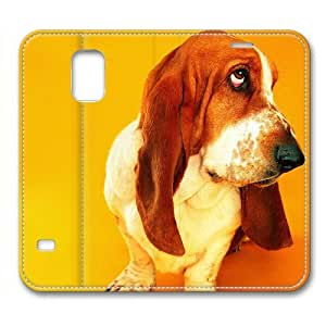 Cut Dog Pet Leather Cover for Samsung Galaxy S5 by Cases & Mousepads