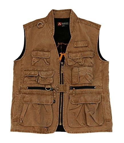 Kakadu Traders Delta Multi Pocket Vest made from Canvas -