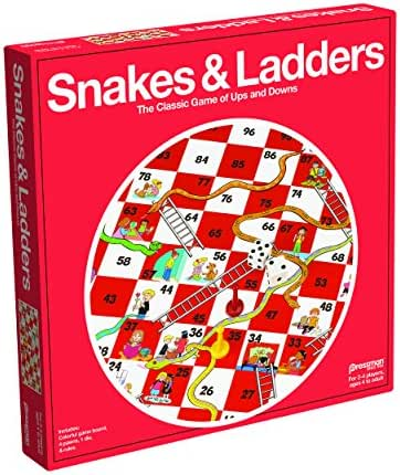 Pressman Snakes & Ladders Game, 2-4 Players, Ages 4 & Up