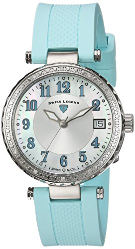 Swiss Legend Women's 'Sea Breeze' Quartz Stainless Steel and Silicone Casual Watch, Color:Blue (Model: 16002SM-02-BBLS)