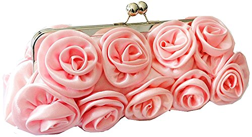 Pink bag chaines ways bag Rose 3 with Cluches Hand Marshel bag Evening Shoulder Pzw1T7