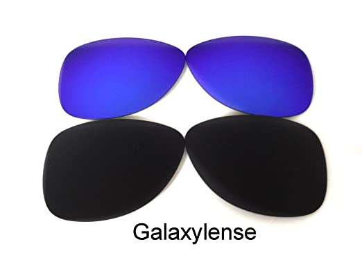 189042a2a9 Amazon.com  Galaxy Replacement Lenses for Oakley Crosshair 1.0 Black Blue  Polarized