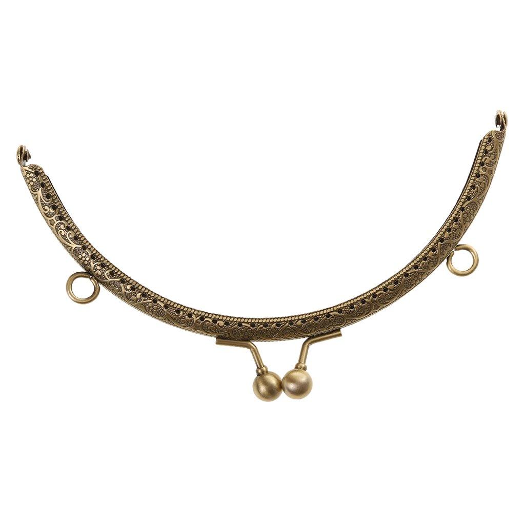 MagiDeal Sew in Coin Bag Evening Purse Metal Frame Handbag Clasp Fastening 6.5cm Bronze