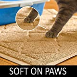 "Premium Large Cat Litter Mat 35"" x 23"", Traps"
