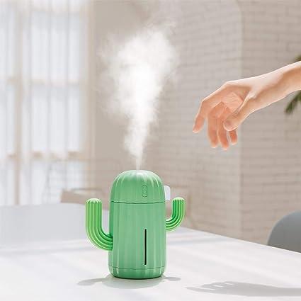 ZLC Cactus Humidifier 340Ml Silent Ultrasonic Humidifier