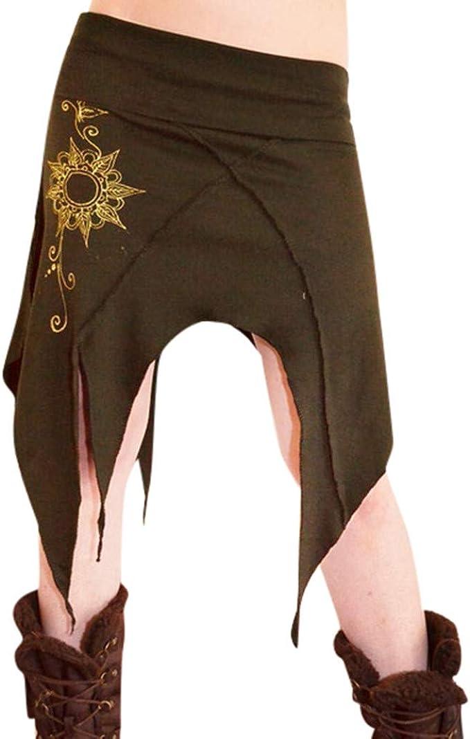 Falda Larga con Flecos Mujer Fiesta Elegante Vintage Tallas ...