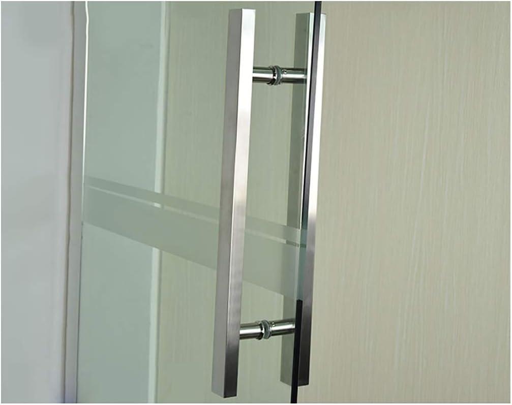 Size : 600/×400mm Glast/ür Geb/ürstetem Edelstahl Vierkantrohr Griff Home-Office-Push-Pull-T/ür Gel/änder T/ürgriff Hardware-Zubeh/ör Schiebt