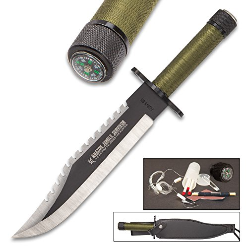 - Amazon Jungle Survival Knife with Sheath