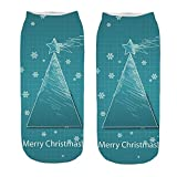 GzxtLTX Ankle Single Socks Christmas 3D Cartoon Christmas Funny Pattern Printed