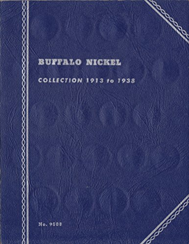 1913-1938 BUFFALO NICKELS USED WHITMAN SERIES No 9008 COIN; ALBUM, BINDER, BOARD, BOOK, CARD, COLLECTION, FOLDER, HOLDER, PAGE, PORTFOLIO, PUBLICATION, SET, VOLUME