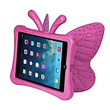 d27664db59 Pink Color 3D Kids Cute Butterfly Shockproof EVA Foam Stand Cover For iPad  Mini 3 2