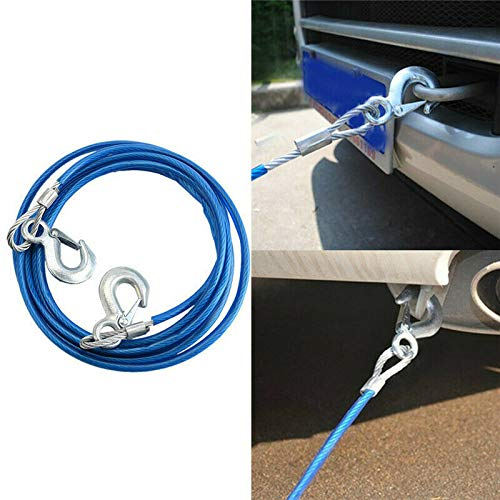️ Yu2d ❤️❤️ ️4M 5 Tons Wire Cable Safety Hook Steel Wire Trailer Car Emergency Towing -