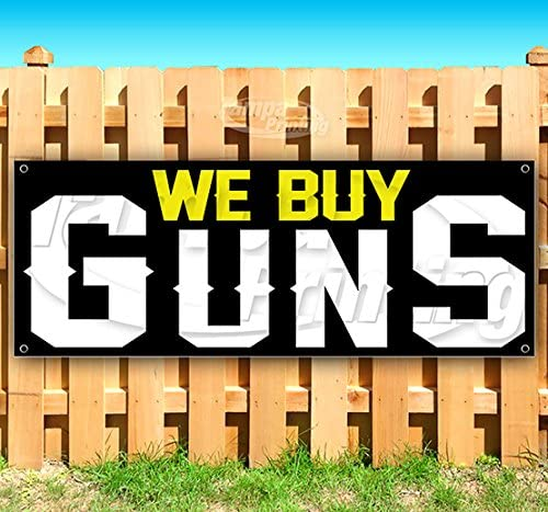 Flag, New Many Sizes Available Store Guns Ammo 13 oz Heavy Duty Vinyl Banner Sign with Metal Grommets Advertising