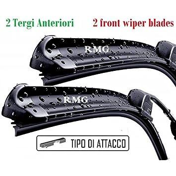 RMG # 6 Par 2 escobillas limpiaparabrisas delanteras para A6 fabricado a partir de año 2005 al 2011 tamaños cepillos 55 y 55 cm: Amazon.es: Coche y moto