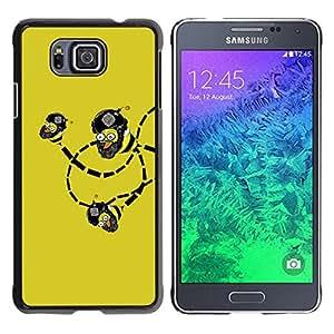 // PHONE CASE GIFT // Duro Estuche protector PC Cáscara Plástico Carcasa Funda Hard Protective Case for Samsung ALPHA G850 / Funny Lol Troll Bee Bombs Wtf /
