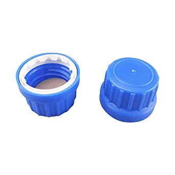 Tansoole Bottles Screw Caps Security PP Plastic Bottles Caps GL18 with Gasket PE//PTFE for Laboratory Glass Bottles 40 pcs