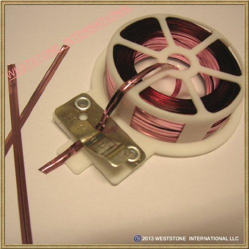 65ft (20m) Light Pink Metallic Twist Tie Roll with Cutter - Qty 1