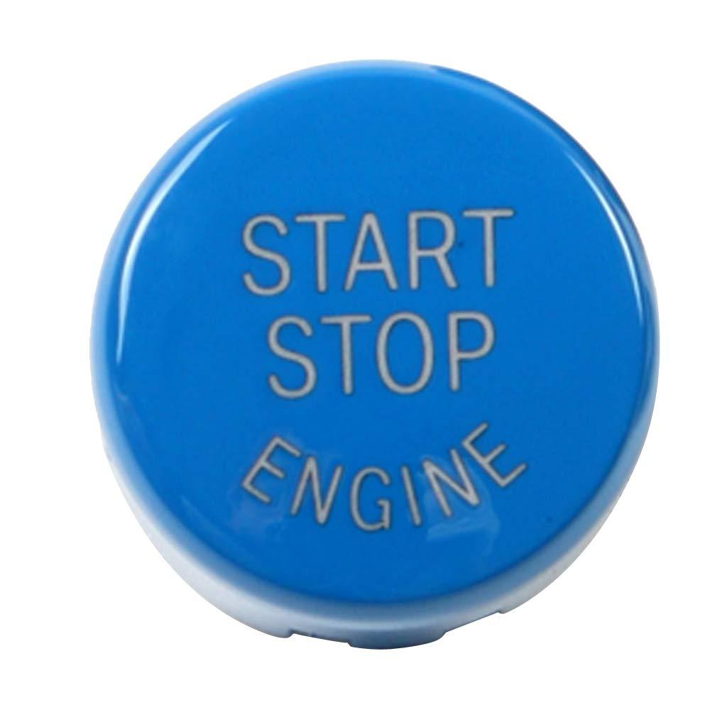 Homyl Aftermarket Rund Auto Motor Start Stop-Taste Druckknopfabdeckung, Zü ndung Druckschalter Tastenabdeckung - Rot