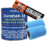 Durabak White Textured, Outdoor, UV Resistant, Truck Bed Liner Gallon KIT - Roll On Coating | DIY Custom Coat for Bedliner and Undercoating, Auto Body, Automotive Rust Proofing, Boat Repair