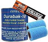 Durabak Sand Textured - Outdoor - UV Resistant - Truck Bed Liner Gallon KIT - Roll On Coating   DIY Custom Coat for Bedliner and Undercoating - Auto Body - Automotive Rust Proofing - Boat Repair