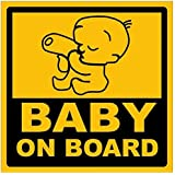Clickforsign CRD-102 Baby on Board Reflective Car Sticker, Yellow