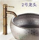 AWXJX European Style Retro Style Copper Basin Hot and Cold Bath Mixer Tap