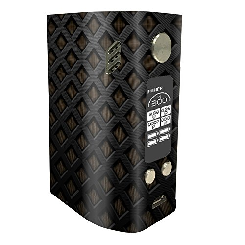 MightySkins Skin Compatible with Wismec Reuleaux RX300 - Black Wall | Protective, Durable, and Unique Vinyl Decal wrap Cover | Easy to Apply, Remove, and Change Styles | Made in The USA