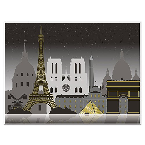 Beistle 59942 Paris Cityscape Insta Mural, 5' x