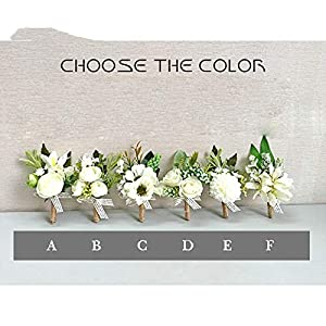 White Orchid Artificial Rose Wrist Corsage Bracelet Silk Flower Bridesmaid Hand Flowers Diasy Wedding Party Decoration 23