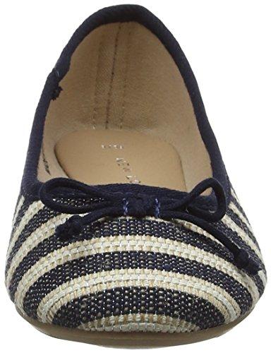 New Closed Ballet Blue Look Pattern Blue 49 WoMen Flats Kaven Toe gxngrFP