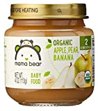 Mama Bear Organic Baby Food, Stage 2, Apple Pear Banana, 4 Ounce Jars (Pack of 12)