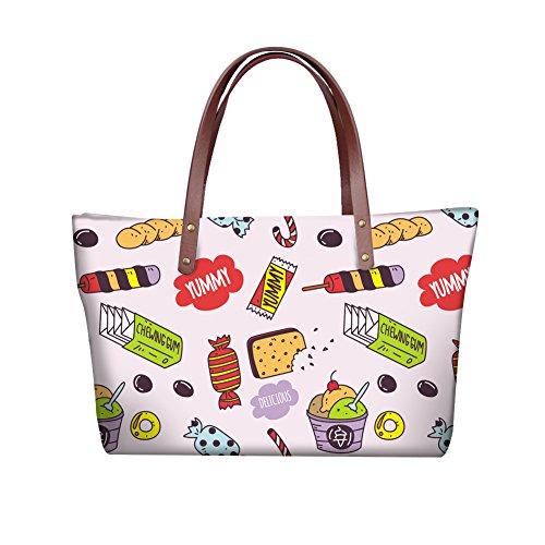 FancyPrint Women Handle Handbags Purse Foldable Dfgcc5078al Top Wallets Bags Fashion Satchel wOgqa