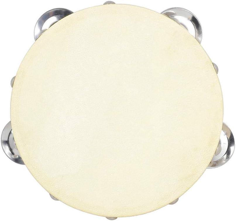 Diamoen 6 inch Tambourine Double Row 6 inch tambourine Jingle Bells Kids Adults Handheld Tambourine Musical Instrument