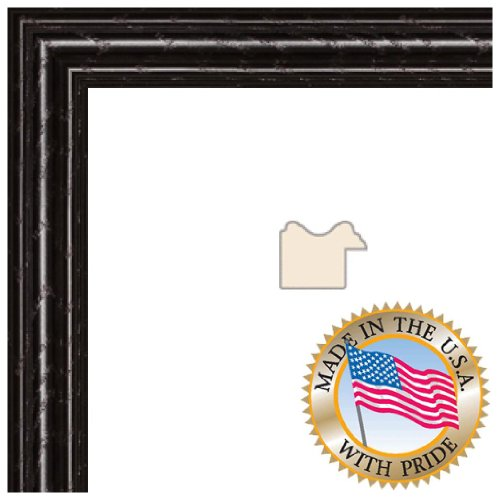 12x24 Black Stain on Red Leaf Maple Picture Frame - 1'' wide with .093 FF3 Plexi-Glass and Foam Backing (12 X 24 Inch Frame)