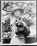 Photo: Mrs. Calvin Coolidge,holding her pet raccoon,Grace Goodhue Coolidge,c1922