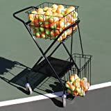 OnCourt OffCourt Mini Coach's Cart – 150 Ball Capacity / Portable Traveling Cart / Comes with Removable Divider